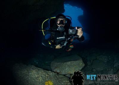 nurkowanie jaskinia Teneryfa
